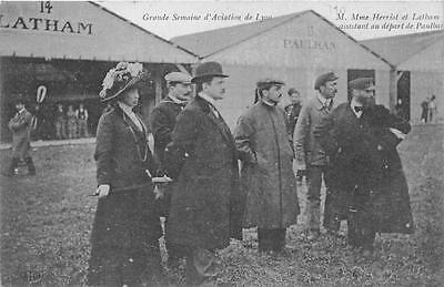 Verzamelingen Briefkaarten Volhardend Cpa 69 Lyon Grande Semaine D'aviation De Lyon M.et Mme Henriot Assistant Depart