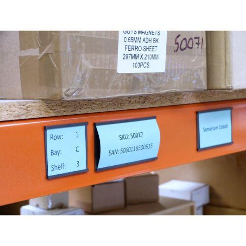 50mm Breit 'C' Profil Flexibel Magnetisch Streifen Lager-Regale Stahl