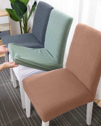 Thickened Spandex Seat Cover Dining Banquet Decor Chair Cover Elastic Slipcovers