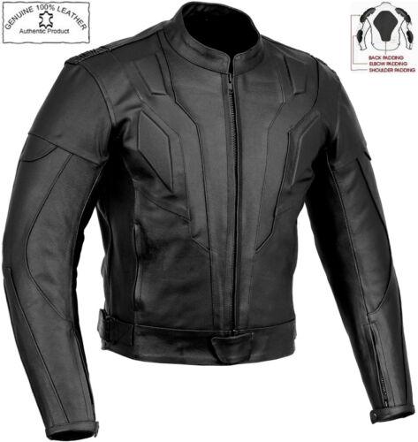 Knight Rider Stil Slim Fit Herren Ce Protektor Motorrad/Motorradjacke aus Leder
