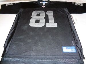 Reebok Oakland Raiders Tim Brown  81 NFL Football Jersey Throwback ... dc53f7a81