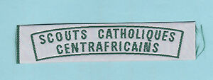 CENTRAL-AFRICAN-REPUBLIC-SCOUTS-CATHOLIQUES-CENTRAFRICAINS-SCOUT-Strip-Patch