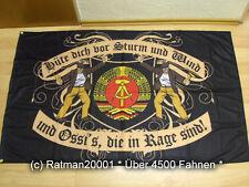 Banderas bandera RDA cuidado con tormenta y viento nuevo - 90 x 150 cm
