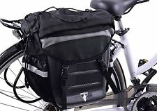 """GIANT"" TOP QUALITY HARD SHELL REAR PANNIER COME RUCKSACK TO FIT ON BIKE CARRIER"