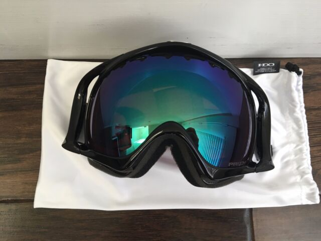 33e95f5fdc80 Oakley Crowbar Jet Black Prizm Jade Iridium Ski Snow Snowboard Goggles for  sale online