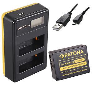 PATONA Dual LCD USB Ladegerät für NP W126 Akkus: