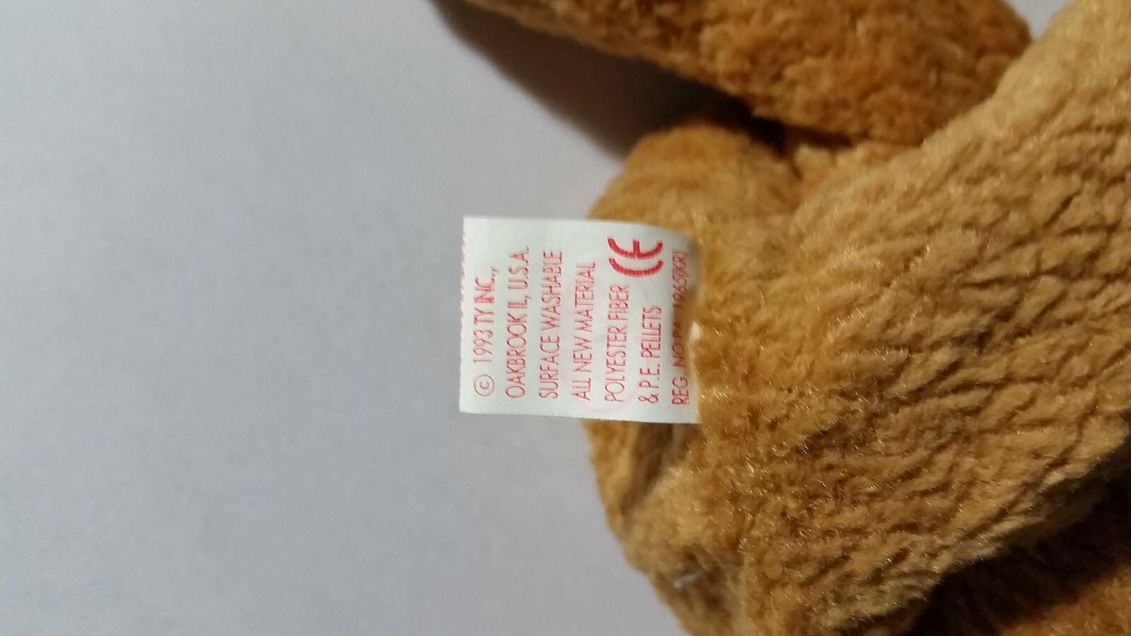 f43e78ab11c ... two TY Beanie Baby Very Rare Rare Rare CURLY BEAR orig. collectible  with Tag