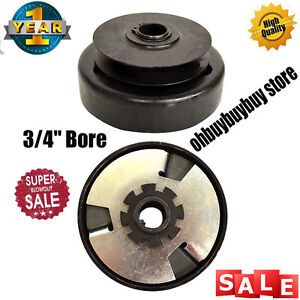 "Extreme Duty Centrifugal Clutch Pulley 3/4"" Bore Belt Go Kart Mini Bike US OW"