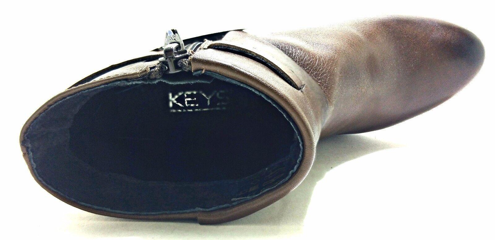 KEYS 1153 PELLE CAFFE scarpe scarpe scarpe donna tronchetti stivali stivaletti tacco zeppa c7f757