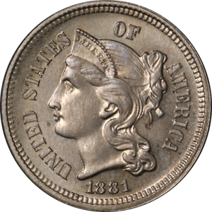 1881-Three-3-Cent-Nickel-Proof-Choice-PR-Nice-Eye-Appeal-Strong-Strike