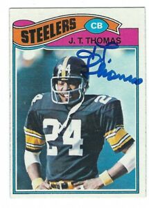 Details About Signed Jt Thomas Pittsburgh Steelers 1977 Topps Card 501 Wshow Ticket