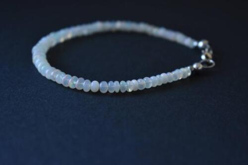 Natürliche äthiopische TOP-Qualität Opal Edelstein Armband 965 Silber Verschluss