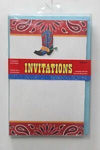 Cowboy boots western party invitations american country birthday image is loading cowboy boots western party invitations american country birthday filmwisefo