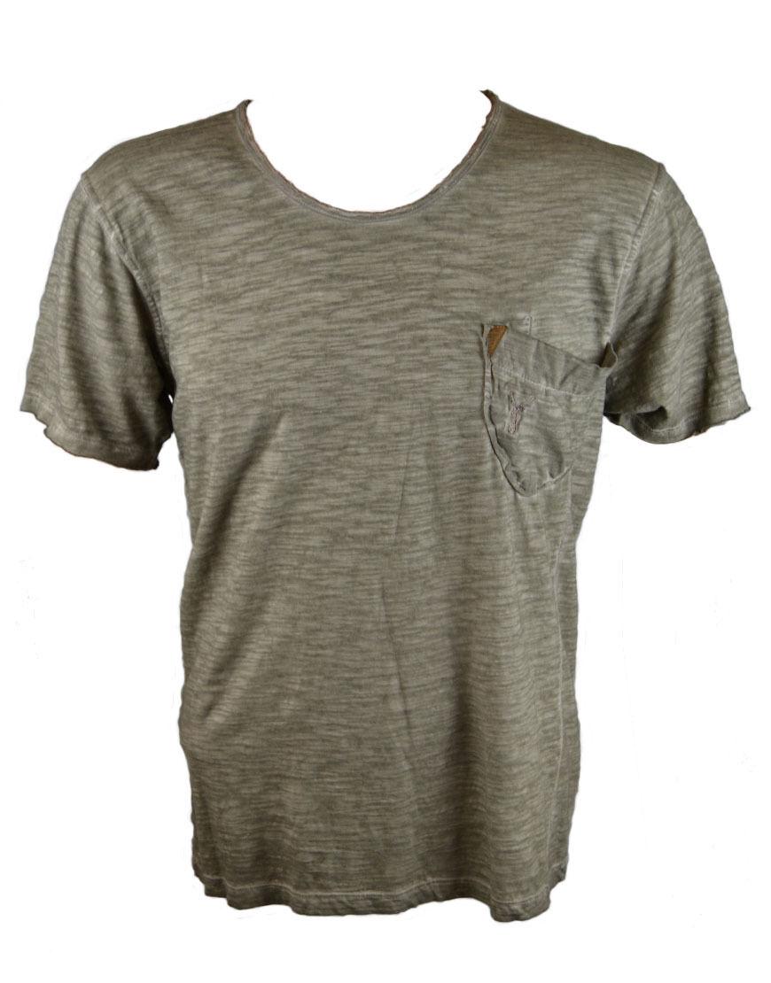 Pearly King uomo Bullone T-Shirt Grigio Talpa (PACCH 075)
