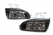 92-95 Honda Civic Black Glass Head lights w/City Light 9003/H4 2/3/4 EG EJ EH