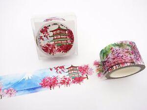 Japanese SPECIAL EDITION washi tape! Sakura cherry blossoms, Mt. Fuji, temples
