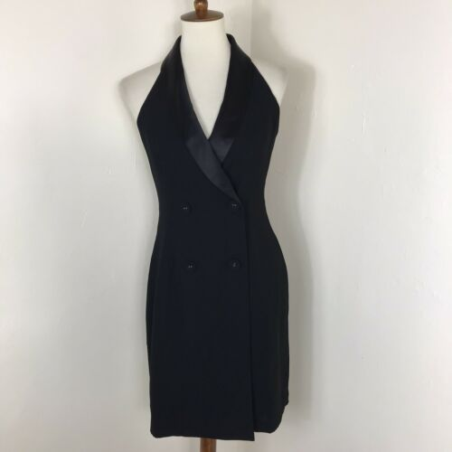 Reiss Sinead tuxedo dress size 6 Black