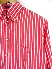 MENS 100% GENUINE GANT E-Z FIT L/S CORAL-RED/WHITE STRIPE SHIRT M RRP £85