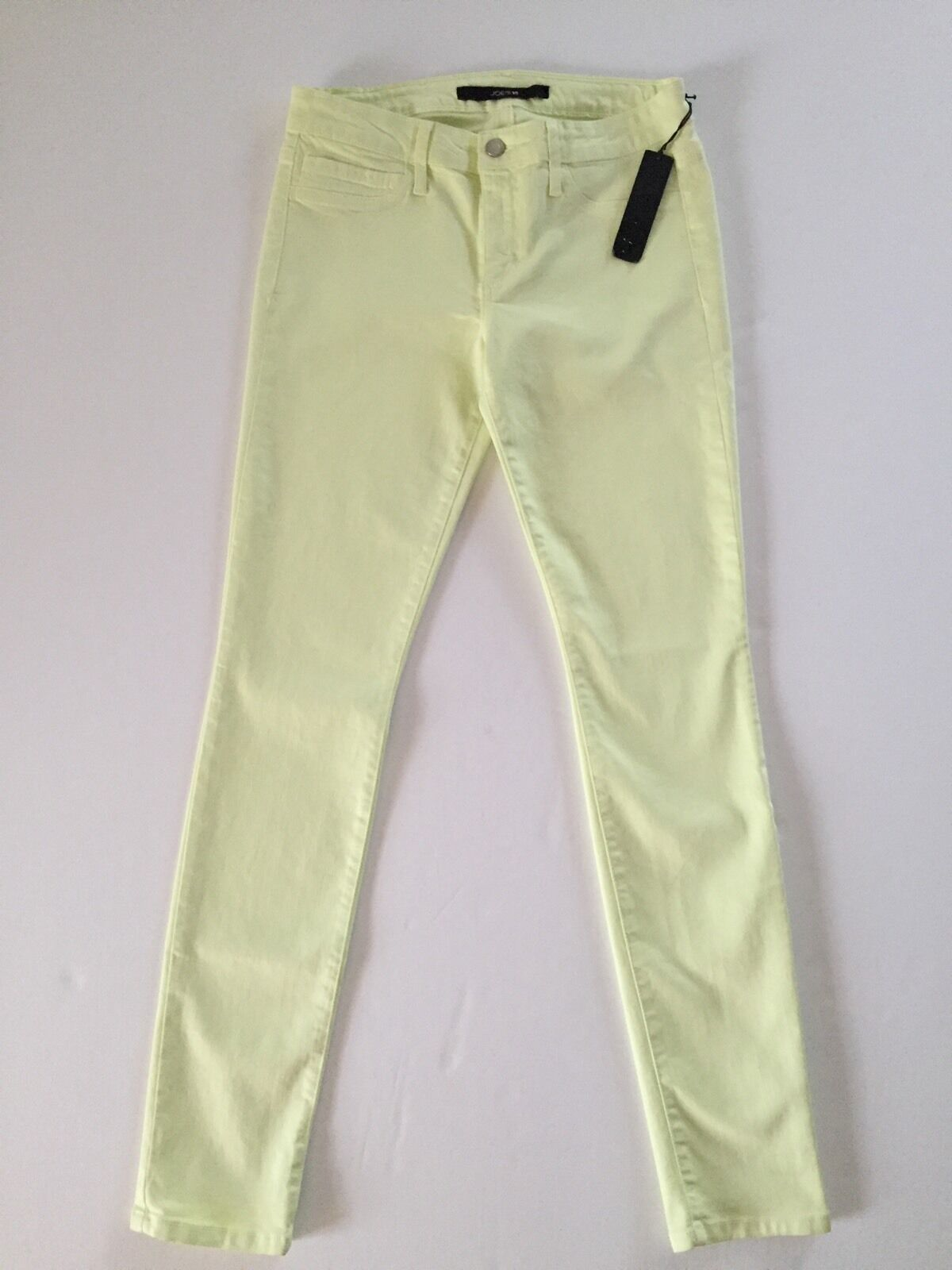 NWT Joes Jeans The Skinny in Lime yellow wax coated 29  169