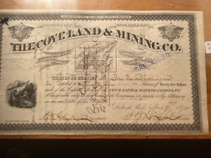 1874-The-Coveland-And-Mining-Company-Mining-Stock-Certificate