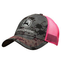 John Deere Women's Hat, Women's John Deere Trucker Cap 23080419. Nwt. Camo/ Pink
