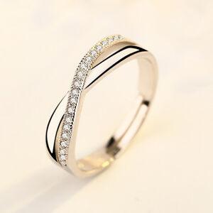 Damen-Verstellbar-Gr-Design-Ring-Silber-Ring-Strass-Verlobungs-Ehering-Geschenk
