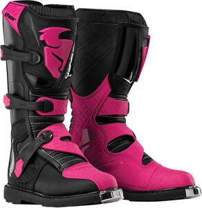 thor blitz mx womens ladies girls riding boots black. Black Bedroom Furniture Sets. Home Design Ideas