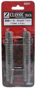 Rokuhan-R001-110mm-Straight-Track-with-Power-Feed-Point-4-pcs-From-japan