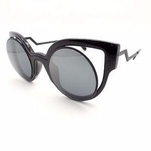 de5c77ca363d Fendi 0137 Matte Shiny Black Grey Mirror NT2CN New Authentic ...