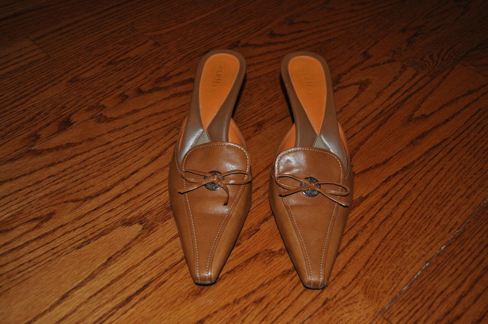 Mujer Zapatos Zapatos Zapatos De Tacón Cuero Marrón Cole Haan Talla 8.5 M Hecho En Brasil  tienda de venta en línea