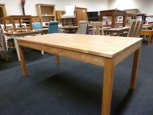 Details About New Solid Birch Wood Large Contemporary Dining Table 183cms Furniture Store
