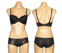 Black Bra & Boyshort Panty Set Size 32B 34B 34C 36B 36C 38C 40C & S M L XL NWT