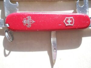 red with straight pin Victorinox Camper Swiss Army knife