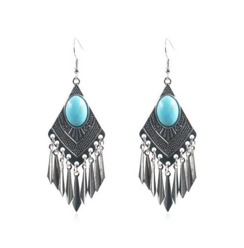 Fashion diamond shape earrings female creative vintage tassel earrings diy