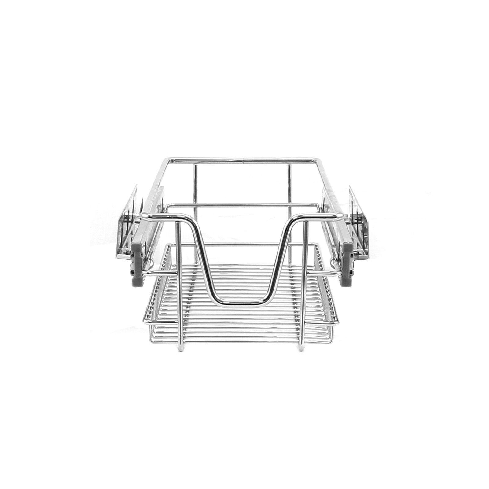 Cajon de Cocina Telescopico Extraíbles Muebles de 30cm Acero Inoxidable (3 Uds)