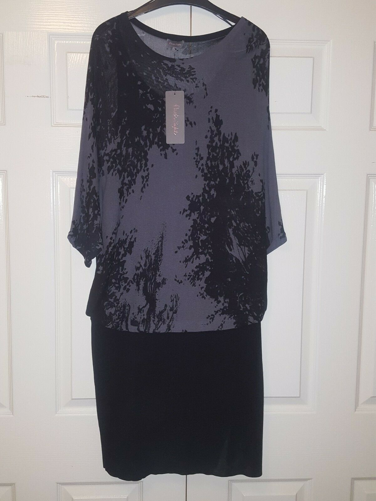 Phase Eight Tree Print Bat-sleeve Tunic   Dress – Size 18