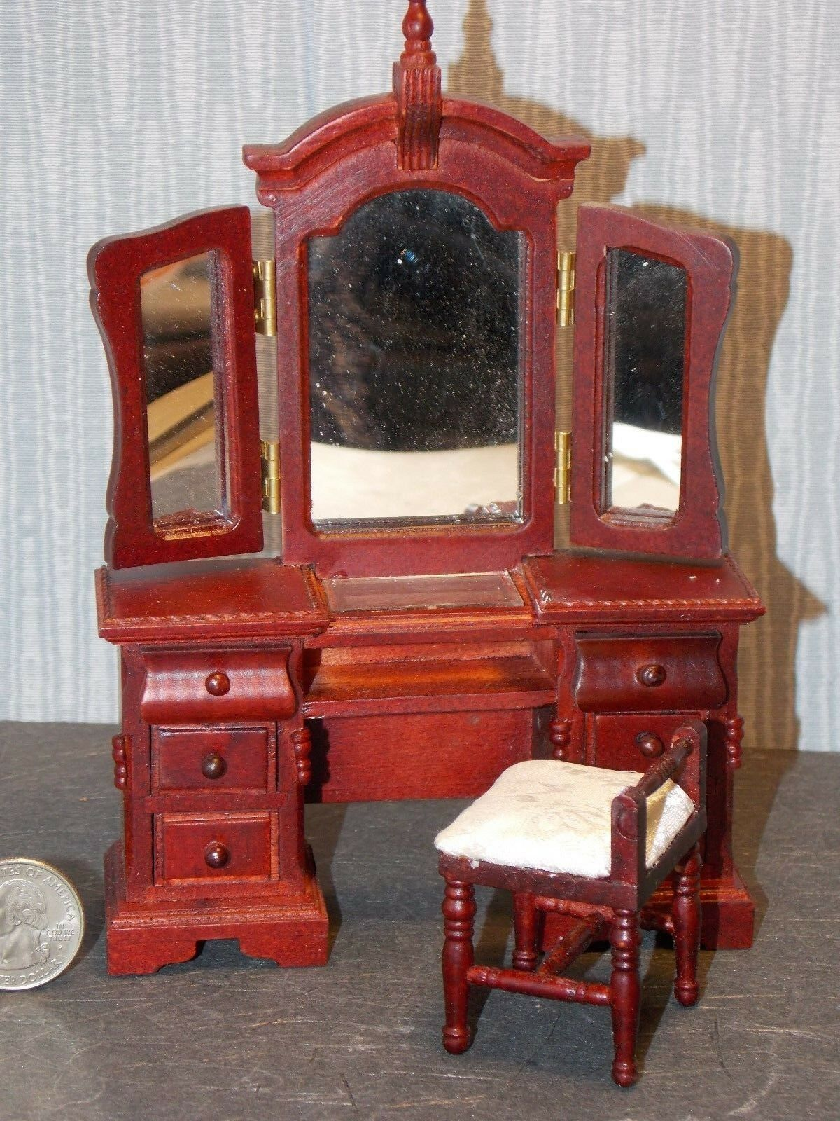 bambolahouse bambolahouse bambolahouse Miniature Bedroom Dresser Mirror Vanity 1 12 scale Y30 bambolays Gtuttiery 949897