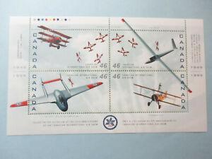 CANADA-AIRPLANE-BLOCK-OF-4-1807-MNH-Canadian-Air-Show-50th-Ann