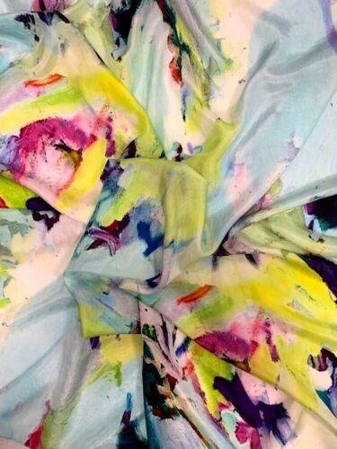 New Gorgeous Spring//Summer Multicolour Artist Print 100/% Pure Silk Scarf//Stole