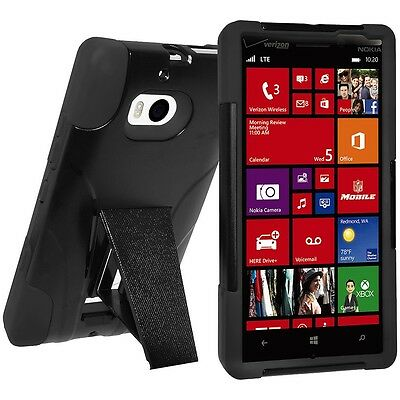 AMZER RUGGED DOUBLE LAYER HYBRID KICKSTAND HARD SHELL CASE FOR NOKIA LUMIA 929