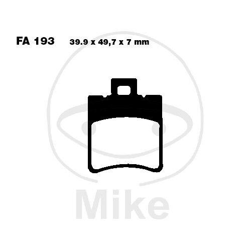 4,4 PS-Brake Shoes EBC SCOOTER PIAGGIO NRG mc3 50 lc dd Purejet BJ 2002-2004