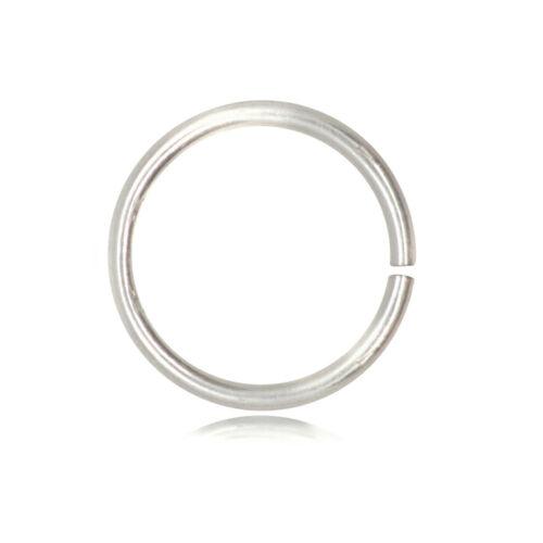 Argent sterling 925 solide Open Jump Rings 1.5 mm d/'épaisseur 12 mm Diamètre