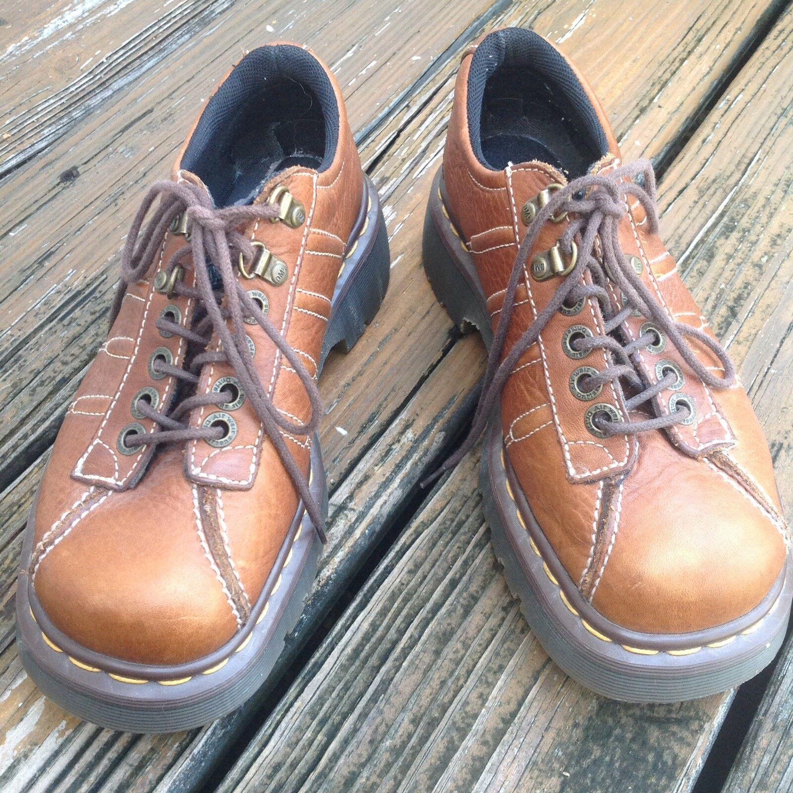 Vintage Dr Martens Docs Oxfords marrón zapatos para hombre hombre hombre 6 mujeres 7 Reino Unido 5 Inglaterra 9764  salida de fábrica