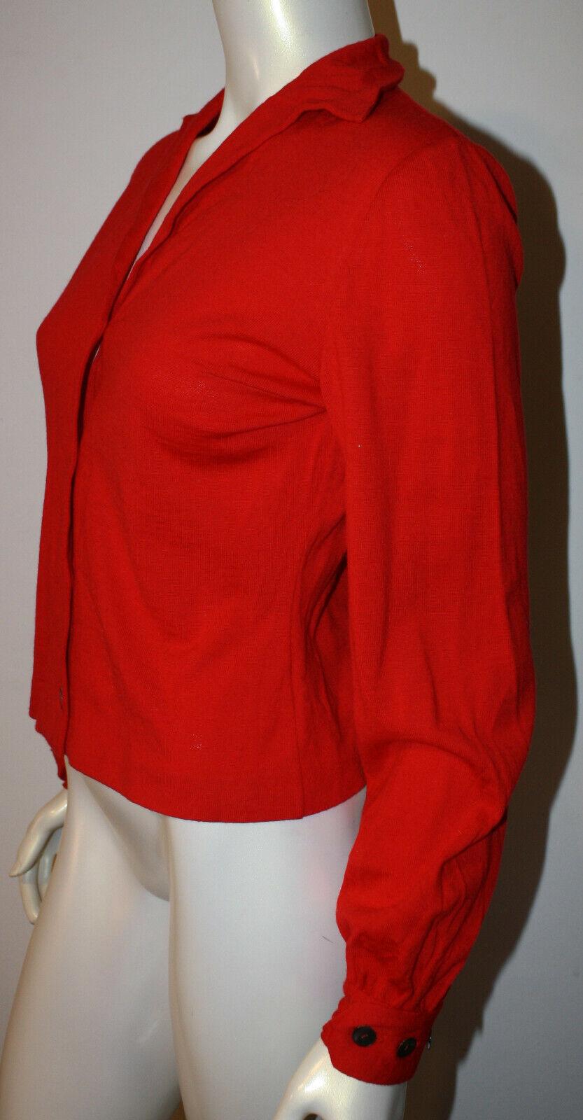 CONFEZIONI FIM Red Wool LS Sweater S M Vintage Vintage Vintage  d28b5b