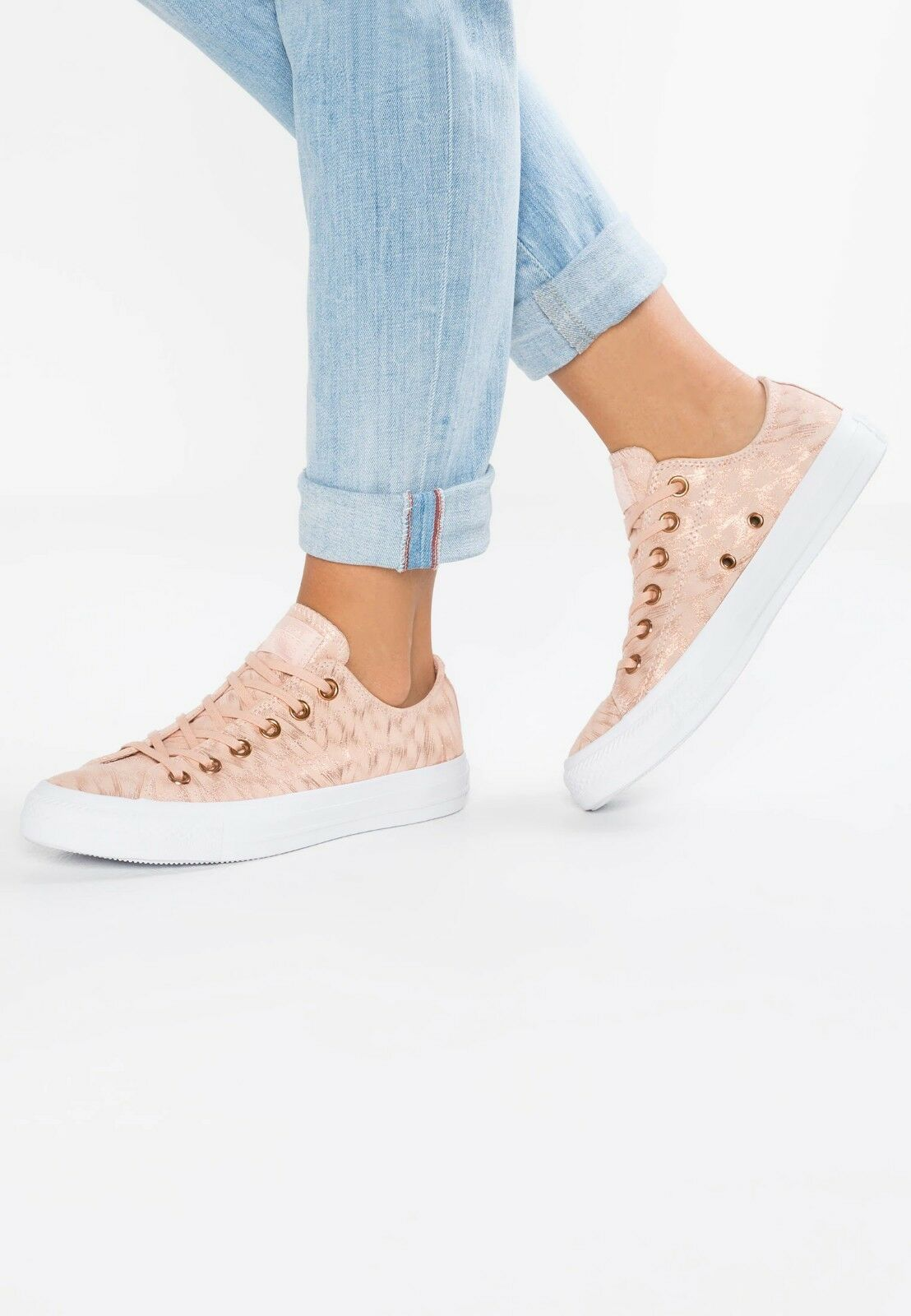 CHUCK TAYLOR ALL STAR SHIMMER SUEDE TRAINERS UK 3.5