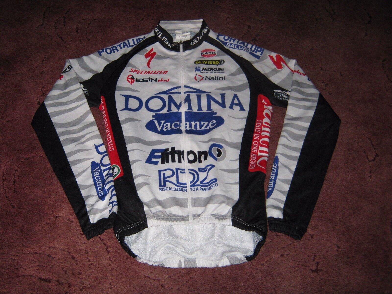DOMINA VACANZE 2003 NALINI L S CYCLING JERSEY [2] RIDER ISSUE  PAOLO VALOTI