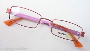 New-Eyce-Frauen-Gestell-Fassung-Halbbrille-Metall-zierlich-rot-pink-frame-size-S