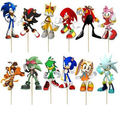 Sonic Hedgehog Cupcake Topper Party Balloon Decoration Supplies Plate Banner Cup Ebay