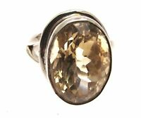 Citrine Stone Citrine Jewelry Gemstone Jewellery Citrine Ring 925 Silver Size P