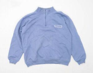 Lee-Cooper-Herren-Groesse-M-Baumwollmischung-Grafik-blau-Pullover